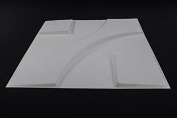1 m², Paneele 3D Platten Wandpaneele 3D Wandplatten Wand Decke, 50x50cm CARLOS - 2