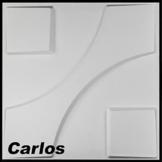 1 m², Paneele 3D Platten Wandpaneele 3D Wandplatten Wand Decke, 50x50cm CARLOS - 1