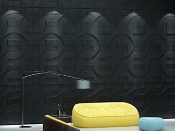 1 m², Paneele 3D Platten Wandpaneele 3D Wandplatten Wand Decke, 50x50cm CARLOS - 5