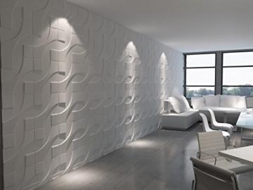 1 m², Paneele 3D Platten Wandpaneele 3D Wandplatten Wand Decke, 50x50cm CARLOS - 6