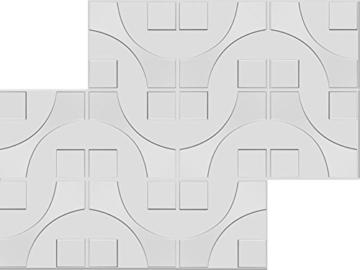 1 m², Paneele 3D Platten Wandpaneele 3D Wandplatten Wand Decke, 50x50cm CARLOS - 7