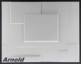 1 m², Paneele 3D Platten Wandpaneele 3D Wandplatten Wand Decke, 62x80cm, ARNOLD - 1