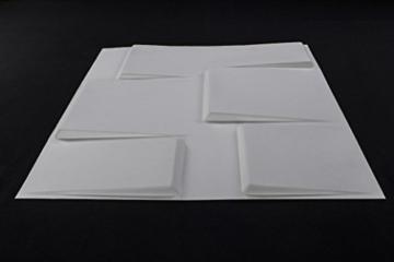 1m², Panel 3D Platten Wandpaneele 3D Wandplatten Wand Decke, 50x 50cm Arthur - 2