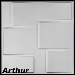 1m², Panel 3D Platten Wandpaneele 3D Wandplatten Wand Decke, 50x 50cm Arthur - 1