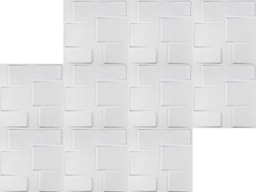 1m², Panel 3D Platten Wandpaneele 3D Wandplatten Wand Decke, 50x 50cm Arthur - 4