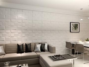 1m², Panel 3D Platten Wandpaneele 3D Wandplatten Wand Decke, 50x 50cm Arthur - 5