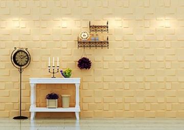 1m², Panel 3D Platten Wandpaneele 3D Wandplatten Wand Decke, 50x 50cm Arthur - 7