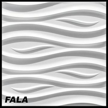 1 Platte 3D Polystyrol Wand Decke Paneele Dekoration Wandplatte 60x60cm, FALA - 1