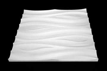 1 Platte 3D Polystyrol Wand Decke Paneele Dekoration Wandplatte 60x60cm, FALA - 2