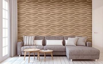 1 Platte 3D Polystyrol Wand Decke Paneele Dekoration Wandplatte 60x60cm, FALA - 7