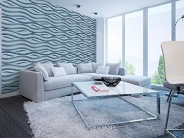 1 Platte 3D Polystyrol Wand Decke Paneele Dekoration Wandplatte 60x60cm, FALA - 8
