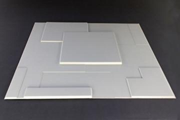10 m², Paneele 3D Platten Wandpaneele 3D Wandplatten Wand Decke, 62x80cm ARNOLD - 2