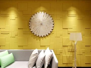 10 m², Paneele 3D Platten Wandpaneele 3D Wandplatten Wand Decke, 62x80cm ARNOLD - 6