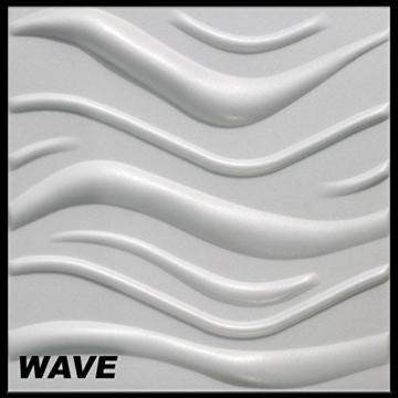 10 m² Platten 3D Polystyrol Wand Decke Paneele Wandplatten 50x50cm, WAVE - 1