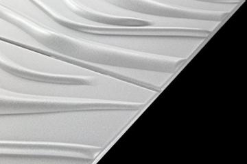 10 m² Platten 3D Polystyrol Wand Decke Paneele Wandplatten 50x50cm, WAVE - 4
