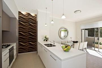 10 m² Platten 3D Polystyrol Wand Decke Paneele Wandplatten 50x50cm, WAVE - 6