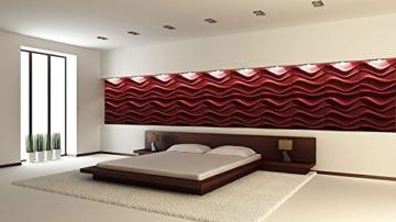 10 m² Platten 3D Polystyrol Wand Decke Paneele Wandplatten 50x50cm, WAVE - 8