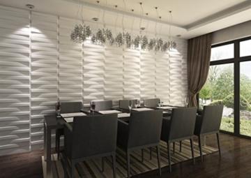 3D-Wandverkleidung für Innenwände, aus Bambus, absolut umweltfreundlich, 12Paneele je 50x50cm = 3m² - 2