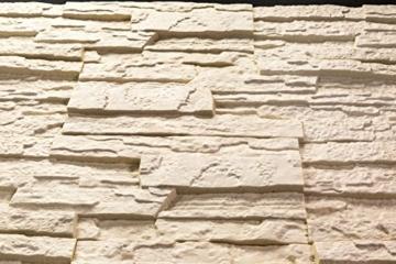 5 m² EPS Dekorsteine Wanddekoration Styropor Platten Verkleidung, STONE BEIGE - 3