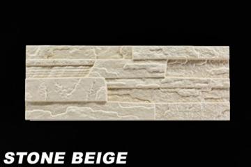 5 m² EPS Dekorsteine Wanddekoration Styropor Platten Verkleidung, STONE BEIGE - 5