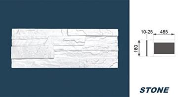 5 m² EPS Dekorsteine Wanddekoration Styropor Platten Verkleidung, STONE BEIGE - 7