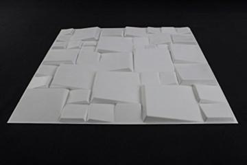 5 m², Paneele 3D Platten Wandpaneele 3D Wandplatten Wand Decke, 50x50cm WILLIAM - 2