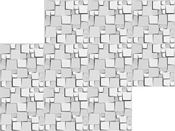 5 m², Paneele 3D Platten Wandpaneele 3D Wandplatten Wand Decke, 50x50cm WILLIAM - 4