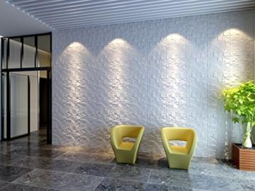 5 m², Paneele 3D Platten Wandpaneele 3D Wandplatten Wand Decke, 50x50cm WILLIAM - 5