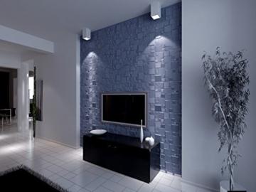 5 m², Paneele 3D Platten Wandpaneele 3D Wandplatten Wand Decke, 50x50cm WILLIAM - 6