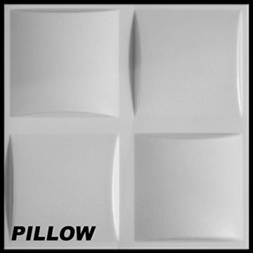 5 m² Platten 3D Polystyrol Wand Decke Paneele Wandplatten 50x50cm, PILLOW - 1