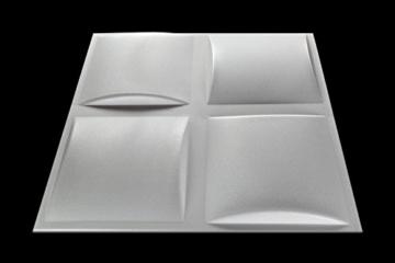 5 m² Platten 3D Polystyrol Wand Decke Paneele Wandplatten 50x50cm, PILLOW - 2