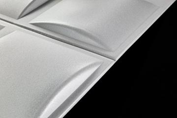 5 m² Platten 3D Polystyrol Wand Decke Paneele Wandplatten 50x50cm, PILLOW - 3