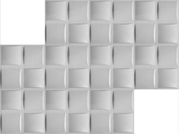 5 m² Platten 3D Polystyrol Wand Decke Paneele Wandplatten 50x50cm, PILLOW - 4