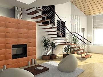 5 m² Platten 3D Polystyrol Wand Decke Paneele Wandplatten 50x50cm, PILLOW - 6
