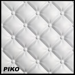 6,5 m² Platten 3D Polystyrol Wand Decke Paneele Wandverkleidung 60x60cm, PIKO - 1
