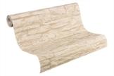 A.S. Création Vliestapete Best of Wood and Stone Tapete in Stein Optik fotorealistische Steintapete Naturstein 10,05 m x 0,53 m beige creme Made in Germany 707130 7071-30 - 1