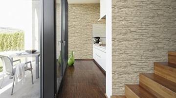 A.S. Création Vliestapete Best of Wood and Stone Tapete in Stein Optik fotorealistische Steintapete Naturstein 10,05 m x 0,53 m beige creme Made in Germany 707130 7071-30 - 6