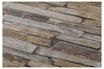 A.S. Création Vliestapete Best of Wood and Stone Tapete in Stein Optik fotorealistische Steintapete Naturstein 10,05 m x 0,53 m beige braun gelb Made in Germany 914217 9142-17 - 3