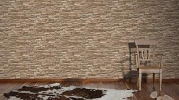 A.S. Création Vliestapete Dekora Natur Tapete in Naturstein Optik fotorealistische Steintapete 10,05 m x 0,53 m beige braun Made in Germany 958332 95833-2 - 6