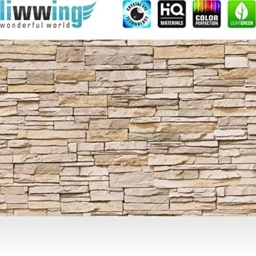 Fototapete 400x280 cm - ALLE TOPSELLER auf einen Blick ! Vlies PREMIUM PLUS - ASIAN STONE WALL - BEIGE - Steintapete Wandbild Steinwand Steintapete Asia Stone Asien - no. 129 - 2