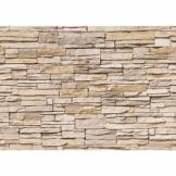 Fototapete 400x280 cm - ALLE TOPSELLER auf einen Blick ! Vlies PREMIUM PLUS - ASIAN STONE WALL - BEIGE - Steintapete Wandbild Steinwand Steintapete Asia Stone Asien - no. 129 - 1