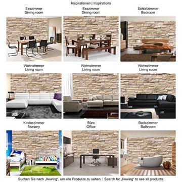 Fototapete 400x280 cm - ALLE TOPSELLER auf einen Blick ! Vlies PREMIUM PLUS - ASIAN STONE WALL - BEIGE - Steintapete Wandbild Steinwand Steintapete Asia Stone Asien - no. 129 - 5