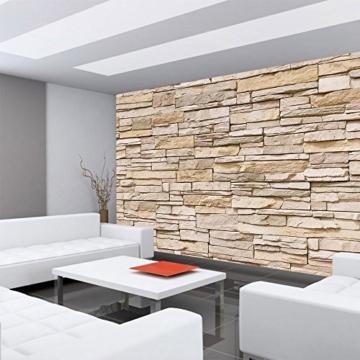 Fototapete 400x280 cm - ALLE TOPSELLER auf einen Blick ! Vlies PREMIUM PLUS - ASIAN STONE WALL - BEIGE - Steintapete Wandbild Steinwand Steintapete Asia Stone Asien - no. 129 - 6