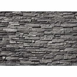 Fototapete Stein - ALLE STEINMOTIVE auf einen Blick ! Vlies PREMIUM PLUS - 200x140 cm - NOBLE STONE WALL - ANTHRAZIT - Steintapete Wandbild Steinwand Steintapete Asia Stone Asien - no. 131 - 1