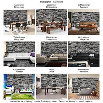 Fototapete Stein - ALLE STEINMOTIVE auf einen Blick ! Vlies PREMIUM PLUS - 200x140 cm - NOBLE STONE WALL - ANTHRAZIT - Steintapete Wandbild Steinwand Steintapete Asia Stone Asien - no. 131 - 5