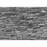 Fototapete Stein - ALLE STEINMOTIVE auf einen Blick ! Vlies PREMIUM PLUS - 400x280 cm - ASIAN STONE WALL - ANTHRAZIT - Steintapete Wandbild Steinwand Steintapete Asia Stone Asien - no. 126 - 1