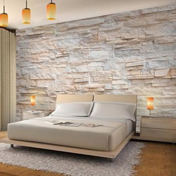 Fototapete Steinwand 3D Effekt 396 x 280 cm Vlies Wand ...