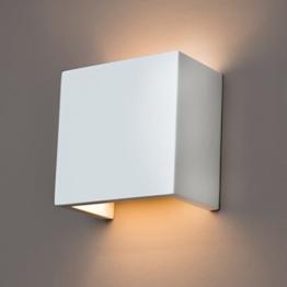 Gipswandleuchte von Activled Gipsleuchte AL-GL8339 im modernen Design in Wandfarbe überstreichbar G9 bis 40W 230V 50Hz Ideale Wandleuchte für Wohnzimmer Flur und Diele - 1