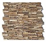 HO-003-1 Wandpaneele 3D Teak-Holz Verblender Wandverblender Wandfliese Wandverkleidung Wand-Design - Fliesen Lager Verkauf Stein-Mosaik Herne NRW - 1