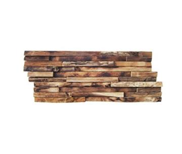 HO-M-006-1 Holzpaneele Teak-Holz Wandverblender Wanddesign Holzwand - Fliesen Lager Verkauf Stein-mosaik Herne NRW - 2